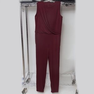 Theory Jumpsuit Burgundy Size Small